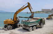 Preparation of a beach for a summer — Stock Photo