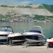 Boats on the coast — Stock Photo