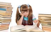 Het kind lezing boek — Stockfoto