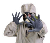 The person in gas mask — Stock Photo