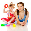 Mother playing with child — Stock Photo #3803776