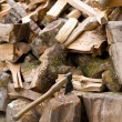 Axe and firewood — Stock Photo
