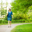Stock Photo: Woman walking