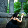 Witch with scull — Stock Photo #3805886