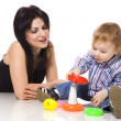 Mother playing with son — Stock Photo