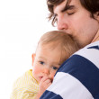 Father holding child — Stock Photo