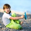Girl on beach — Stock Photo #3809922