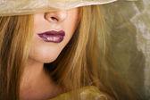 Woman's Lips — Stockfoto