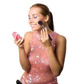 Applying makeup — Stock Photo