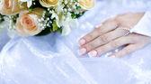 Bride's hand — Stock Photo