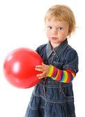 Kız holding topu — Stok fotoğraf