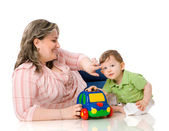 Mother playing with child — Stock Photo
