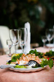 Salad on table — Stock Photo