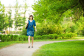 Woman walking — Stock Photo