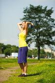 Woman exercising — Stok fotoğraf