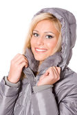 Woman in hood — Stock Photo