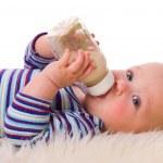 Baby eating — Stock Photo