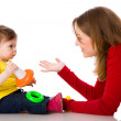 Mother playing with daughter — Stock Photo #3885349