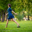 Stock Photo: Hurrying woman