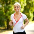 Woman jogging — Stock Photo