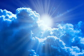 Sun and clouds — Stock Photo