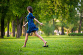 Hurrying woman — Stock Photo