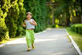 Child jogging — Stock Photo