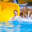 Sliding in pool — Stock Photo