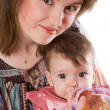 Mother feeding baby — Stock Photo #3896550