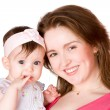 Mother holding baby — Stock Photo #3896595