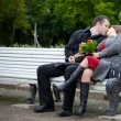 Lovers talking - Stockfoto