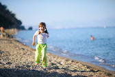 Running on beach — Stock Photo