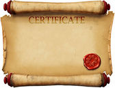 Certificates with wax stamp — Stock Photo