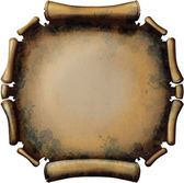 Round Rusty Scroll — Stock Photo