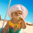 Little Girl with ice cream — Stock Photo