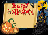 Happy halloween card — Vector de stock