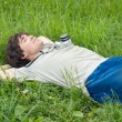 Young man resting — Stock Photo