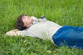 Junger Mann, ruhelosigkeit — Stockfoto