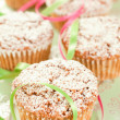 Muffins and Ribbons — Stock Photo