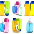 Soap Bottles Collage — Stock Photo