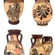 Greek Vases Collage - Stock Photo