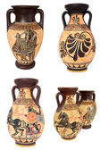 Greek Vases Collage — Stock Photo