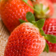 Stock Photo: Raw strawberries