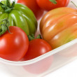 Red And Green Tomatoes - Stock Photo