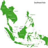 Southeastern Asia map — Stock Vector