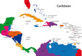 Caribbean map — Stock Vector