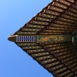 Patterned canopy of temple - Stock Photo