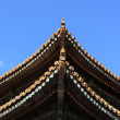 Roof of wooden temple — Stock Photo #2883262