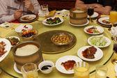 At Chinese restaurant — Stock Photo