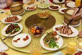 Dinner at chinese restaurant — Stock Photo